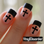 Cross DC84 Fingernail Art Sticker - Vinyl Finger Nail Decals