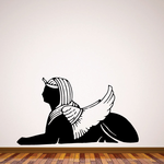 Sphinx Wings Headdress Lion Wall Decal - Vinyl Decal - Car Decal - DC6043
