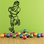 Rugby Running Holding Ball Decal