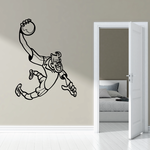 Exaggerated Cartoon Rugby Player Decal
