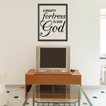 A Mighty Fortress is our God Decal