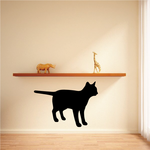 Alert Cat Silhouette Decal