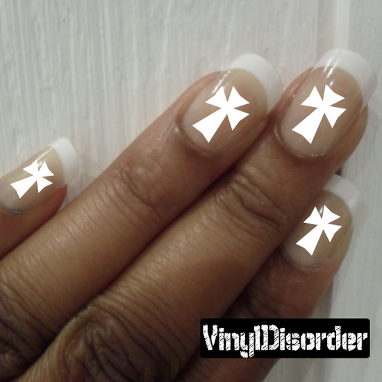 Crosses CF8048 Fingernail Art Sticker - Vinyl Finger Nail Decals