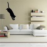 Cat Jumping Down Silhouette Decal