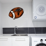 Worn Football Wall Decal - Vinyl Car Sticker - Uscolor007