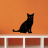 Sitting Cat Looking Decal