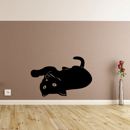 Kitten Playing On Its Back Decal
