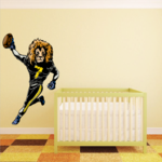 Football Mascot Wall Decal - Vinyl Sticker - Car Sticker - Die Cut Sticker - CDSCOLOR015