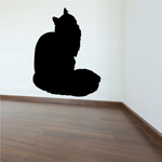Maine Coon Cat Sitting Decal