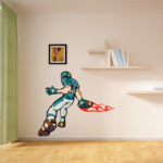 Football Player Wall Decal - Vinyl Sticker - Car Sticker - Die Cut Sticker - CDSCOLOR025