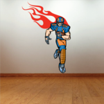 Football Player Wall Decal - Vinyl Sticker - Car Sticker - Die Cut Sticker - CDSCOLOR030
