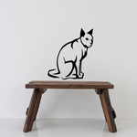 Glancing Sitting Cat Decal