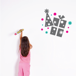 Party Hat and Present Printed Die Cut Decal