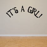 It is a Girl Baby Shower Wall Decal