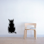 Brooding Cat Sitting Decal
