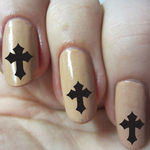 Cross NS024 Fingernail Art Sticker - Vinyl Finger Nail Decals