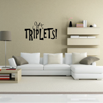 Its Triplets Baby Shower Wall Decal