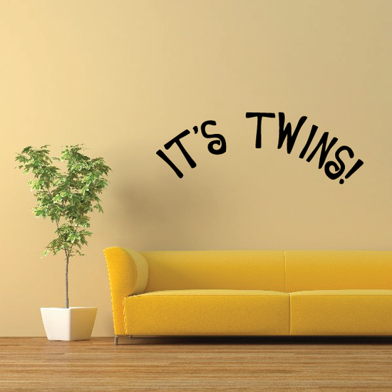 Its Twins Baby Shower Wall Decal