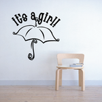 It is a Girl Umbrella Wall Decal