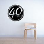 40 Years Celebration Decal