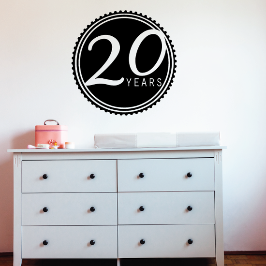 20 Years Celebration Decal
