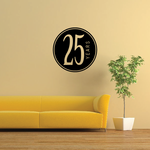 25 Years Celebration Decal