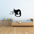 Curly Whisker Cat Sitting Decal