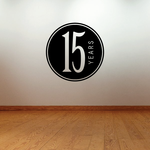 15 years Celebration Decal