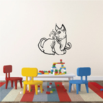 Curly Whisker Cat Resting Decal