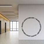 Happy Anniversary Wall Decal