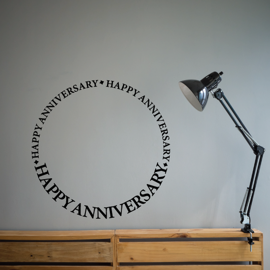Happy Anniversary Wall Quote Decal