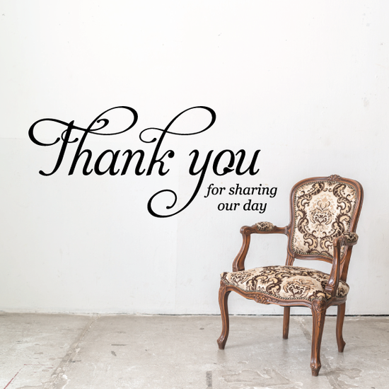 Thank you for Sharing our Day Decal