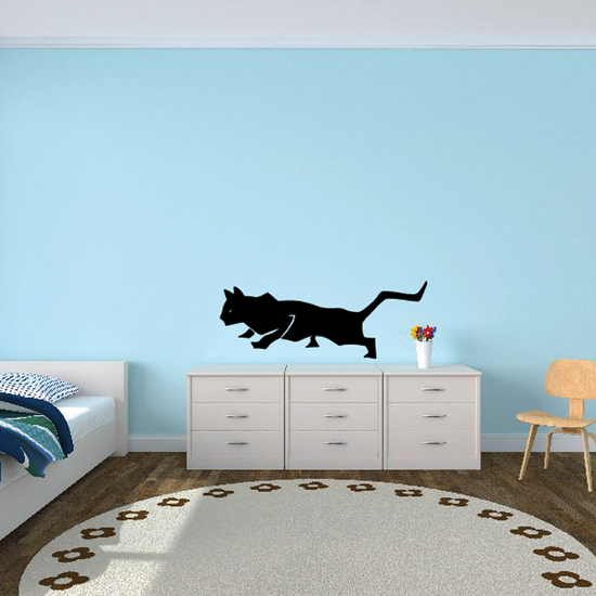 Crouching Pounce Cat Decal