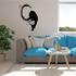 Wet Long Tail Cat Decal
