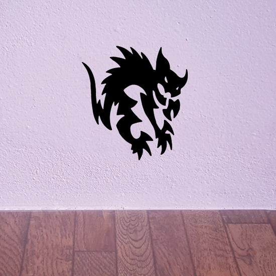Medieval Spooky Cat Decal