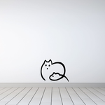 Minimal Cat and Mouse Decal