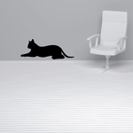 Smooth Resting Cat Decal