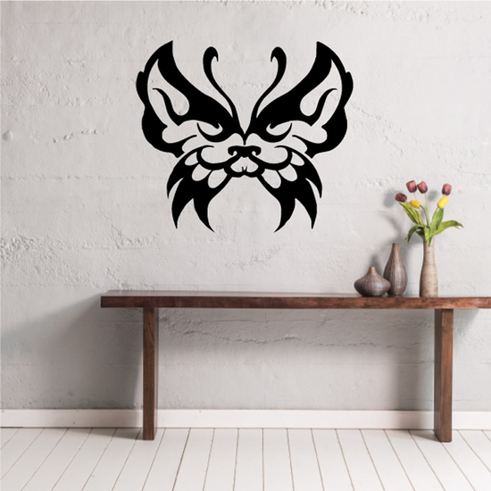 Bufferfly Cat Face Decal