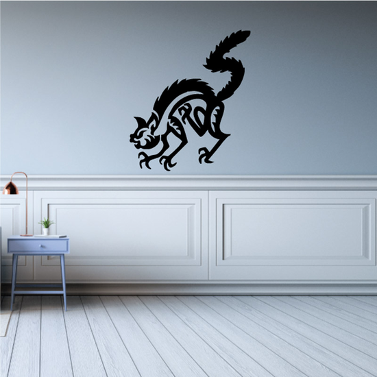 Wild Angry Cat Decal
