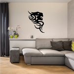 Tribal Lion Face Tattoo Decal