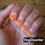 Halloween Pumpkin NS001 Fingernail Art Sticker - Vinyl Finger Nail Decals