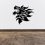 Bold Fire Mane Lion Decal