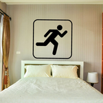 Running Sign Decal