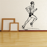 Detailed Male Runner Decal