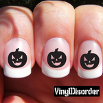 Halloween Pumpkin NS008 Fingernail Art Sticker - Vinyl Finger Nail Decals