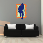 Football Player Wall Decal - Vinyl Sticker - Car Sticker - Die Cut Sticker - CDSCOLOR129