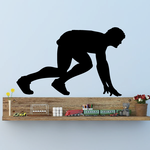 Starting Position Male Runner Decal