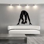 Male At Race Start Running Wall Decal - Vinyl Decal - Car Decal - MC004