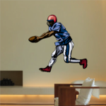 Football Player Wall Decal - Vinyl Sticker - Car Sticker - Die Cut Sticker - CDSCOLOR151
