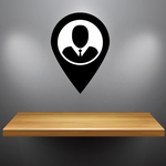 Location Pin Business Icon Wall Decal - Vinyl Decal - Car Decal - Id004